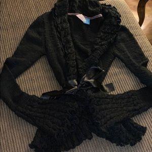 English Laundry Black Hand-knit Sweater Sz M